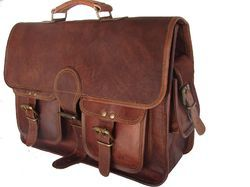 Leather Messenger Bag, Briefcase, Office Bag, Laptop Bag, Leather Bag, Handmade