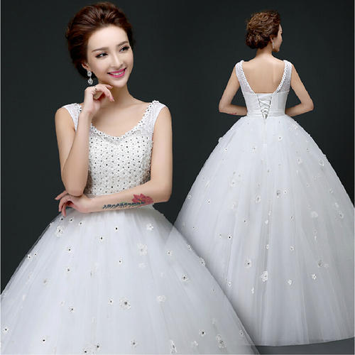8a34a6f8e Wedding Gowns - Be Beautiful Latest Design White Train Wedding Gowns  Importer from Kanpur