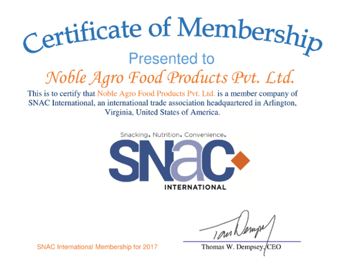 Noble Agro Food Products Private Limited - Manufacturer from Sarkhej