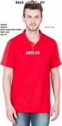 红蓝。Plain Adidas Back Logo Strip T恤