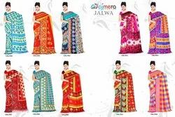 Printed Multicolor Anmazing Factory Weightless Georgette Daily Wear Casual Saree, 6 m (with blouse piece)