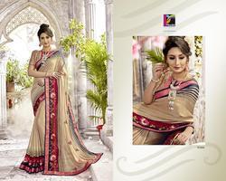 Pikaso Jhumri Series 93001-93008 Stylish Party Wear Chiffon Saree