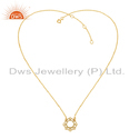 Vishuddha Chakra Gold Plated Womens Silver Chain Pendant Jewelry