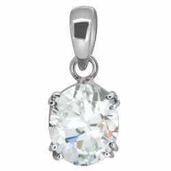 Zircon Natural Stone Pendant Silver Gemstone