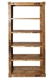 Container Style Mango Wooden Bookcase, Container Style