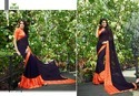 Georgette Satin Patta Saree