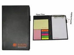 Perfect Bound Black Note Pad Sticky Pad