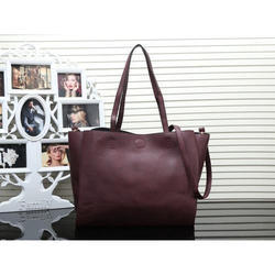 408e6ce1a97e Plain Shoulder Bag Ladies Brown PU Bag