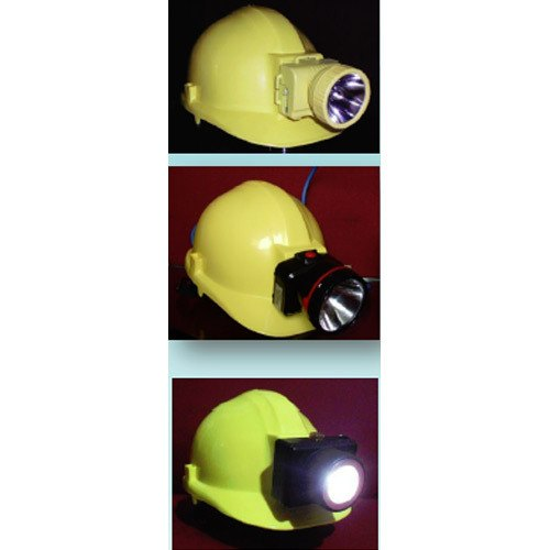 Safety Helmet With Rechargeable LED Head Lam