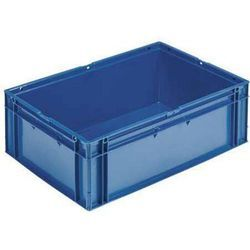 Blue Stackable Plastic Crates