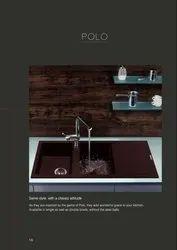 Granite Brown Carysil Polo Single Bowl Quartz Sinks