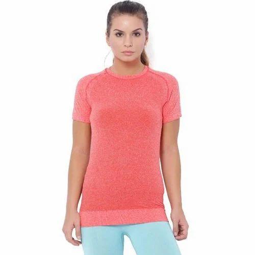 3b66a43aecac13 Ladies Half Sleeve Plain T-Shirt