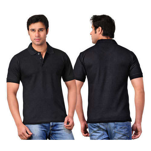 black collar t shirt