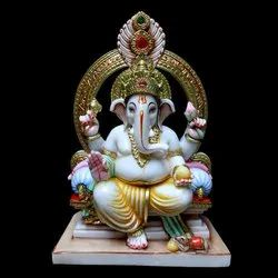 15 Inch Marble Ganesh Statue