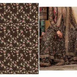 Polyester 44-45 Digital Printed Satin Fabric, GSM: 100-150