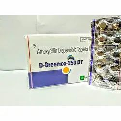 D-Greemox-DT Amoxycillin Dispersible 250mg Tablets, Packaging Type: Strip, Prescription
