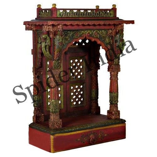 6aa614cef Spider India Handcrafted Teak Wood Home Pooja Mandir, Rs 22500 ...