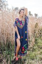 Mexican Embroidery Kaftan