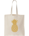 Long Handle Strap Printed Cotton Tote Bags