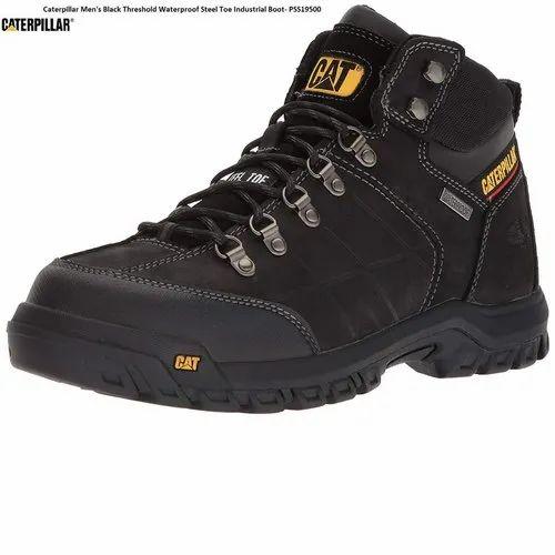99c96886073 Caterpillar Men's Black Threshold Waterproof Steel Toe Industrial Boot