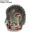 White Metal Seep Laddu Gopal