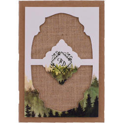 Forest Craft Hard Bound Rustic Wedding Invitation Cards