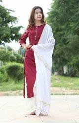 Casual Wear Ladies rayon Suit, Packaging Type: Packet
