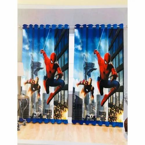 Spider Man Printed Cotton Curtain At Rs 550 Square Meter Kharghar Navi Mumbai Id 21742651762