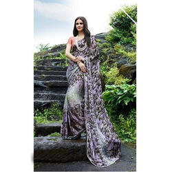Satin Printed Party Wear Georgette Saree