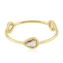 Rose Cut Diamond Ladies Gold Designer Finger Ring