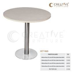 White Steel Table