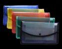 Classik Plastic Button File Folder Transparent Cross Line Design Document Bag 0.35_601