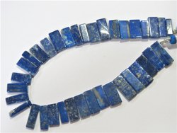 NEW Shape Natural Lapis Stone SLICE beads