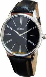 Black Wrist Watch With Black Dial A Designer Analog Wrist Watch For Men