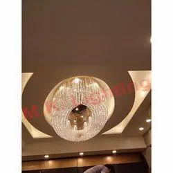 Oval LED Crystal Chandelier