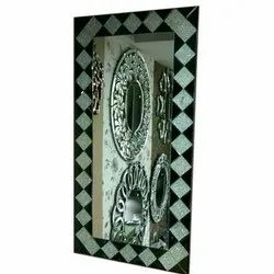 Glass Wall Mounted Decorative Dressing Table Mirror, for Home