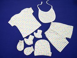 To Choice Plain And Embroider Summer Infant Baby Cloths