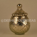 Deshilp Overseas More Color Available Silver Eatching Jar