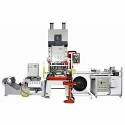Aradhya Fully Automatic Aluminium Foil Container Making Machine, 7.5 Kw, Production Capacity: 60 Pieces Per Minute