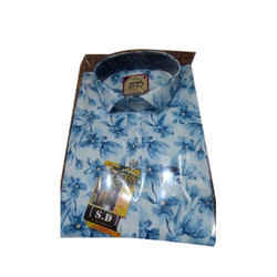 SD Printed Mens Collar Shirt