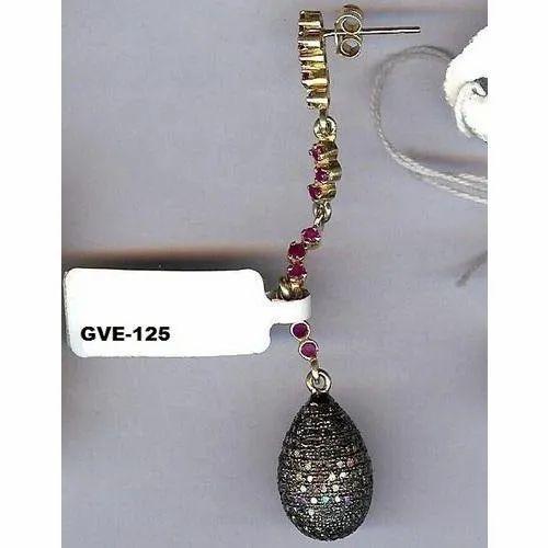 Silver Mountain Real Designer Diamond Earring