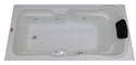 Elegant Bathtub (6' x 3') with Jacuzzi Massage and Filler