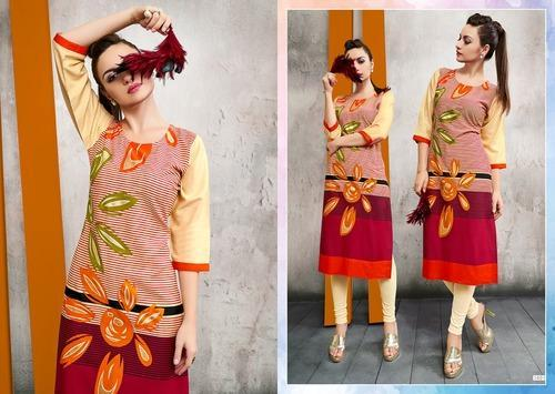 Foil Printed Kurtis For Women
