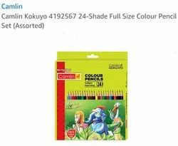 Wooden Camlin Kokuyo Colour Pencil, For Drawing, Packaging Size: 24 Piece