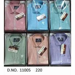 Macau Long Sleeve Mens Formal Cotton Shirt, Size: 38-44
