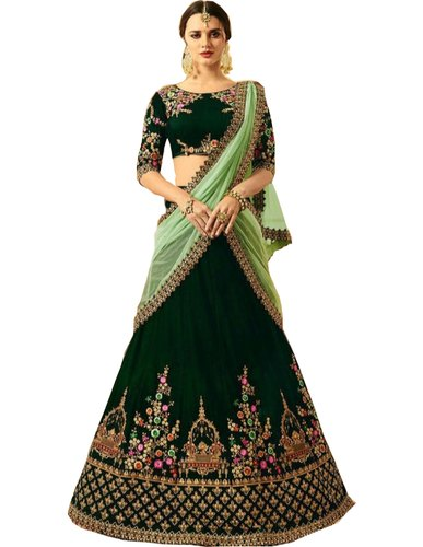 69d0a6ade5 Purvaja Semi Stitched Indian Fashion Semi Stitch Lehenga Choli, Rs ...