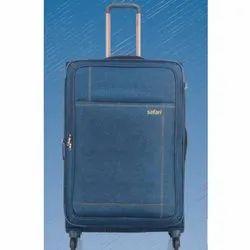 Polyester Denim Safari Trolley Bag, for Travelling, Size: 20 Inch