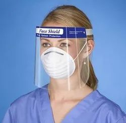 Corona Safety Face Shield 250 Micron Polyester Film / Pet / Polycarbonate - A4 Size