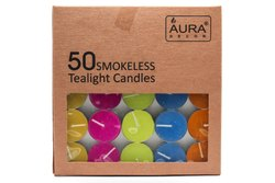 AuraDecor Pack of 50 Tealight Candle
