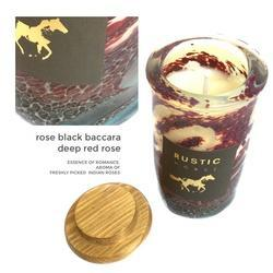 Art Glass Candles- Rose Baccara